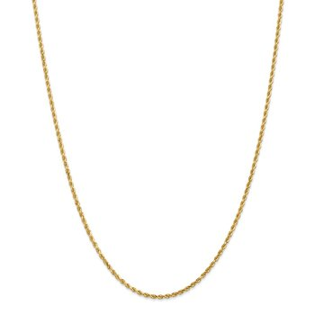 Leslie's 14K 2mm Diamond-Cut Rope Chain