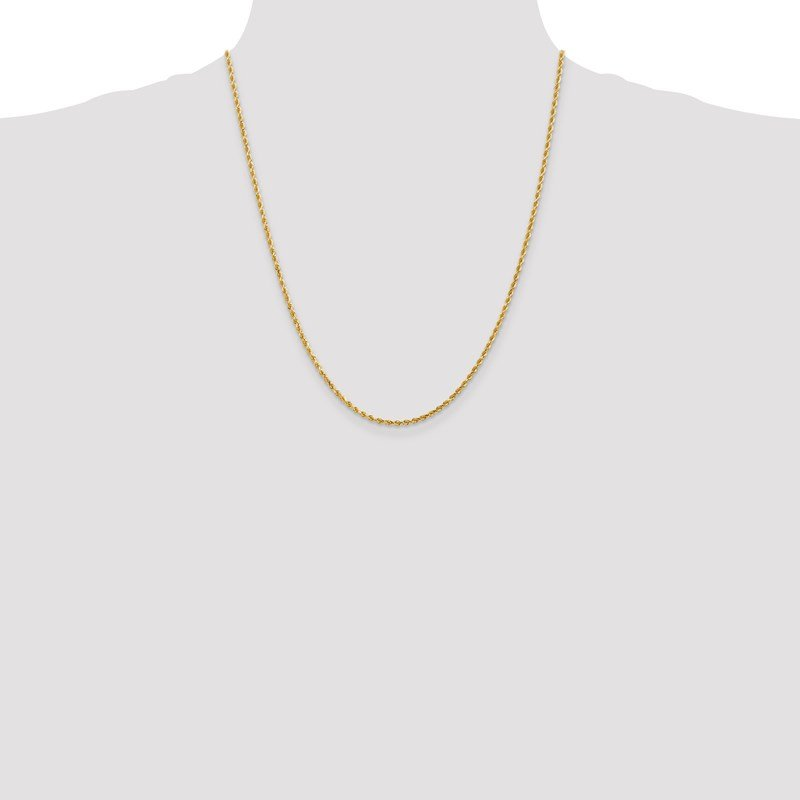 Leslie's Leslie's 14K 2mm Diamond-Cut Rope Chain