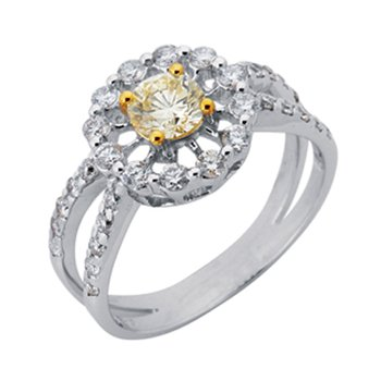 White Gold Color Diamond Ring
