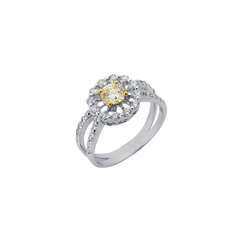 S. Kashi  & Sons White Gold Color Diamond Ring
