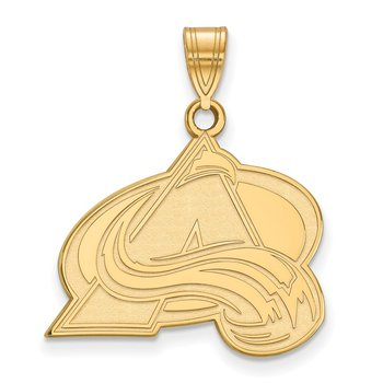 Gold-Plated Sterling Silver Colorado Avalanche NHL Pendant