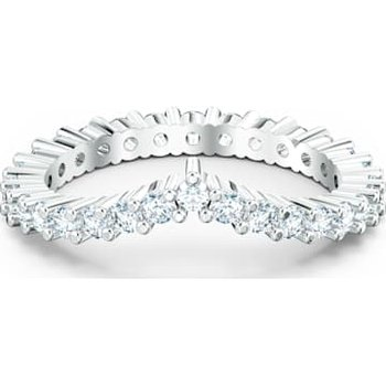 Vittore V Ring, White, Rhodium plated