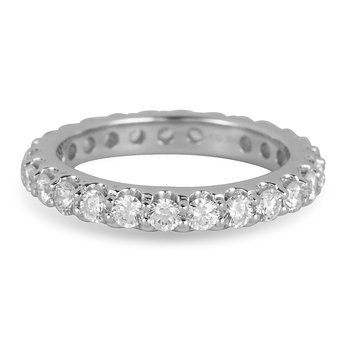 14K WG Diamond Eternity Band in Prong Setting 1.5 Cts