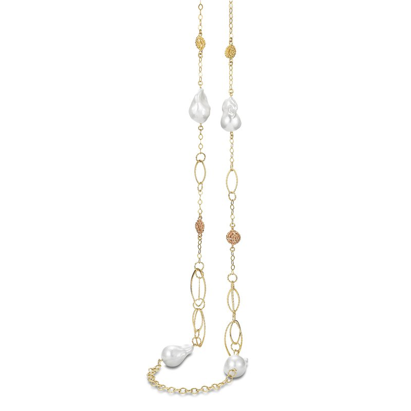Mastoloni Pearls Textured Chain Necklace