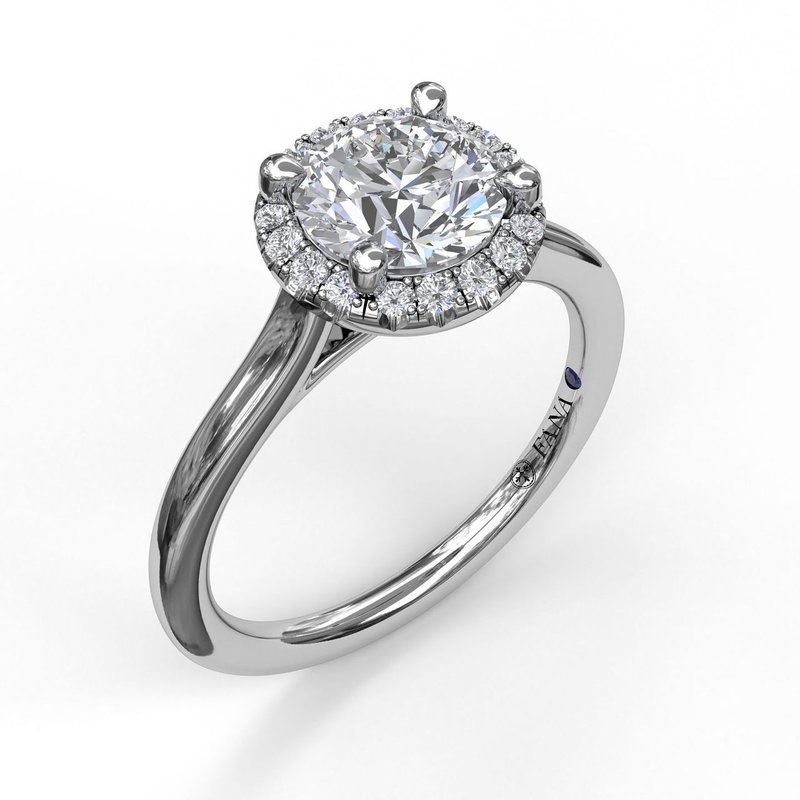 Fana Classic Round Halo Engagement Ring