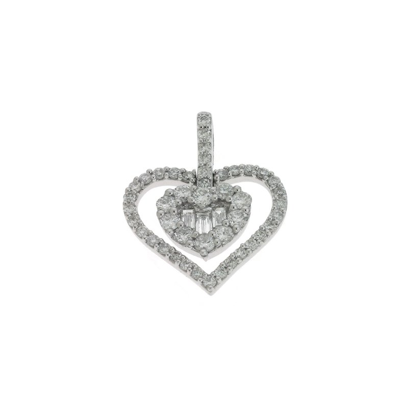 Briana White Gold Heart Pendant