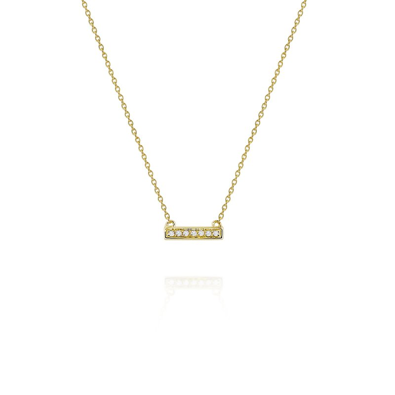 KC Designs Diamond Bar Necklace Set in 14 Kt. Gold