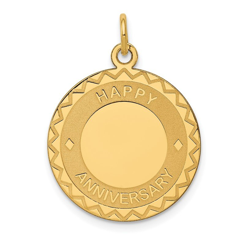 Quality Gold 14K HAPPY ANNIVERSARY Charm