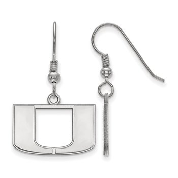 Sterling Silver University of Miami NCAA Earrings