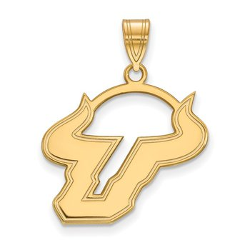 Gold-Plated Sterling Silver University of South Florida NCAA Pendant