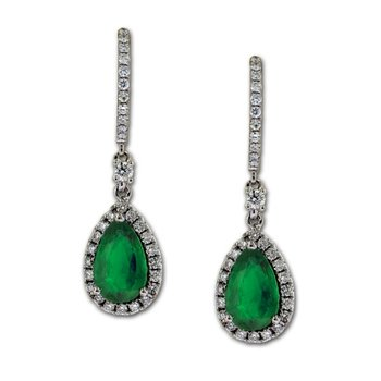 Emerald & Diamond Dangles