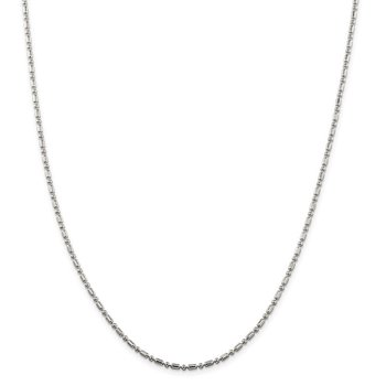 Sterling Silver 2mm Fancy Beaded Chain