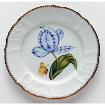 Purple & Blue Tulip Salad Plate