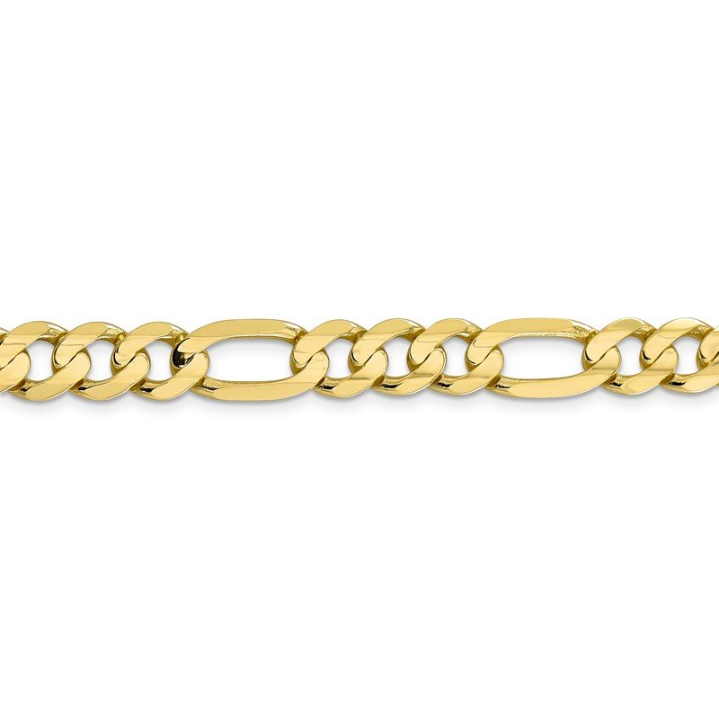 Quality Gold 10k 8.75mm Light Concave Figaro Chain