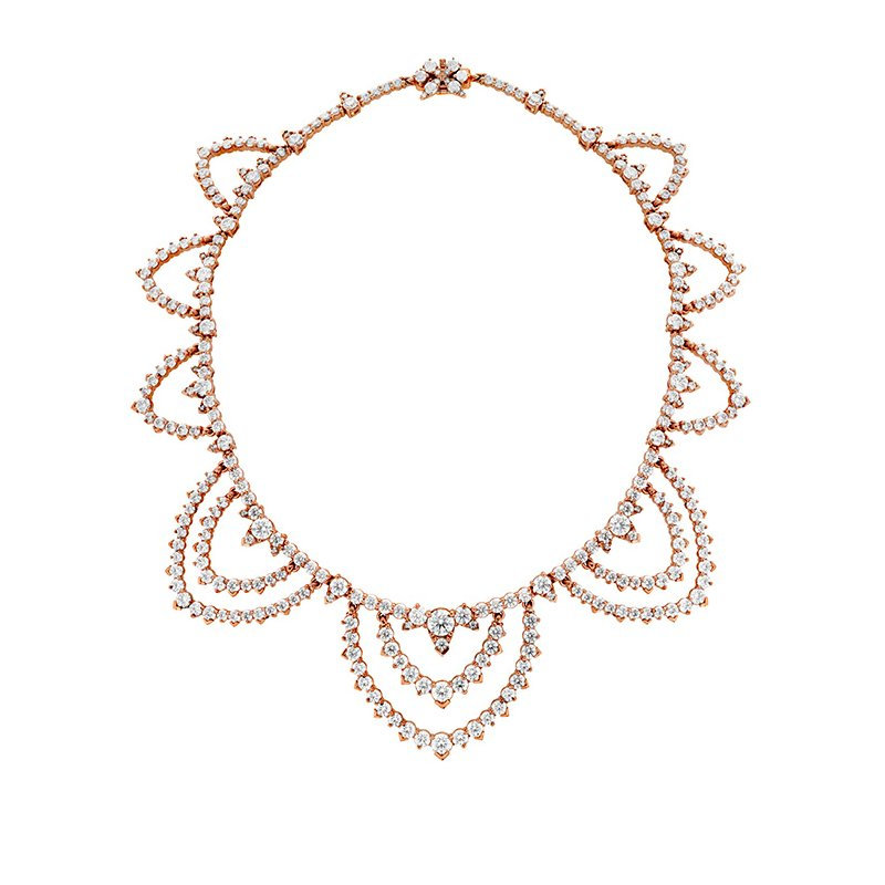 Hearts on Fire 30.6 ctw. Aerial Diamond Collar