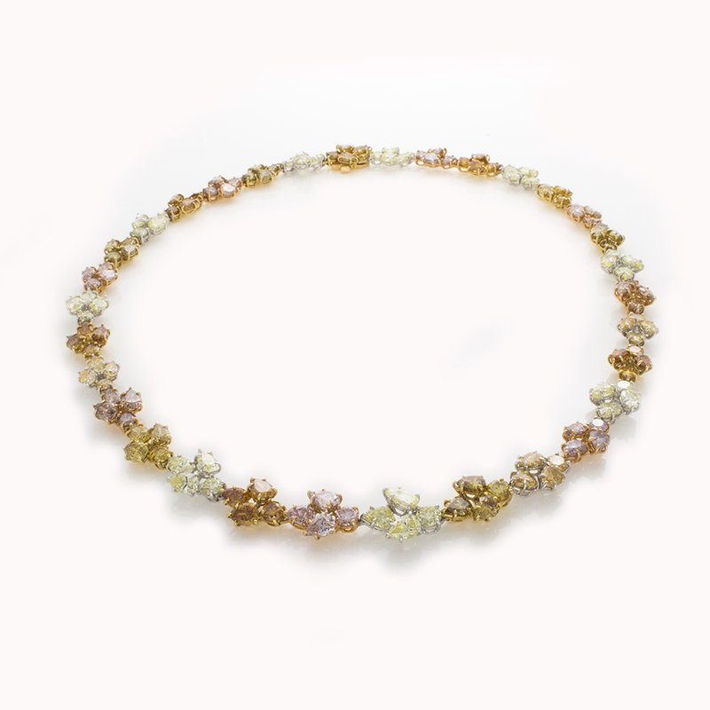 William Levine FANCY COLOR DIAMOND NECKLACE