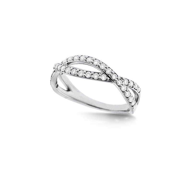 KC Designs Diamond Infinity Ring in 14k White Gold with 36 Diamonds weighing .36ct tw.