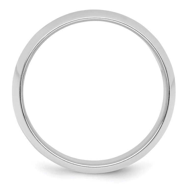 Quality Gold Sterling Silver 8mm Half-Round Band