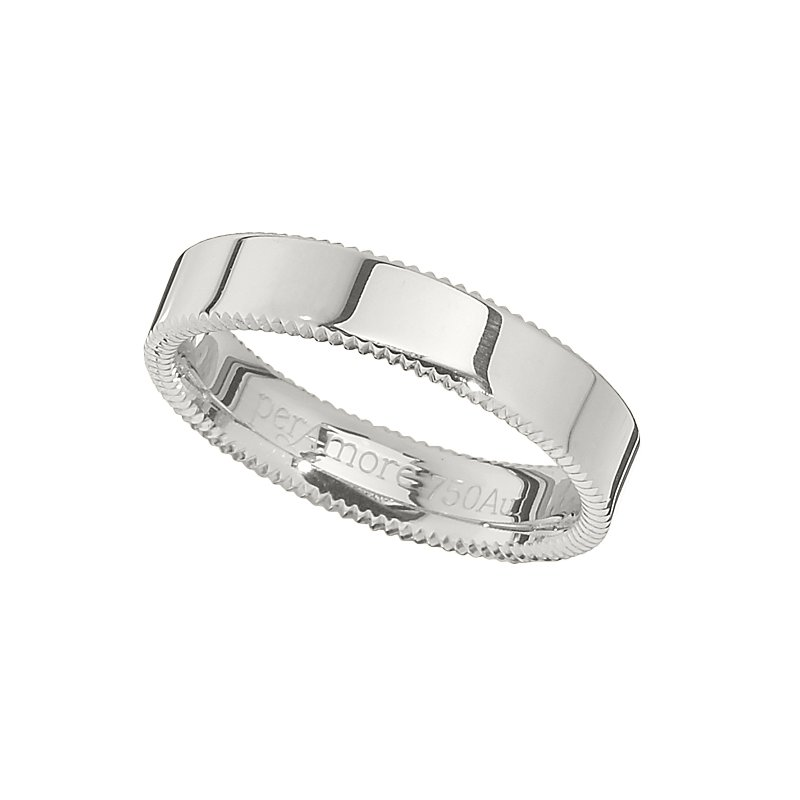 per Amoré Quoin edge flat polished band