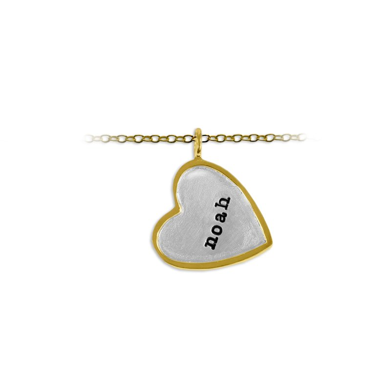 Slate and Tell 20mm Heart Shape Tag Charm with Frame
