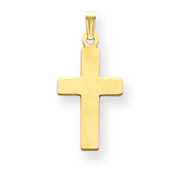 14K Polished Cross Charm