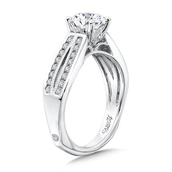 Split Shank Engagement Ring in 14K White Gold with Platinum Head (1ct. tw.)