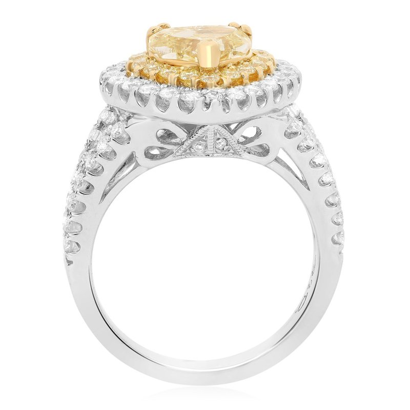 Roman & Jules Two-Tone Heart Shaped Diamond Ring