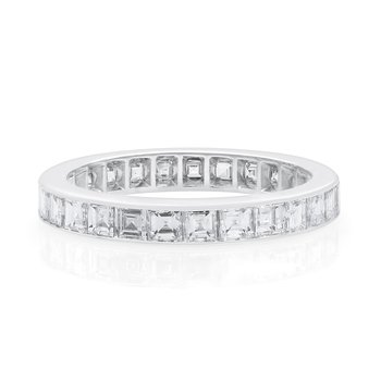 Platinum Square Diamond Eternity Band