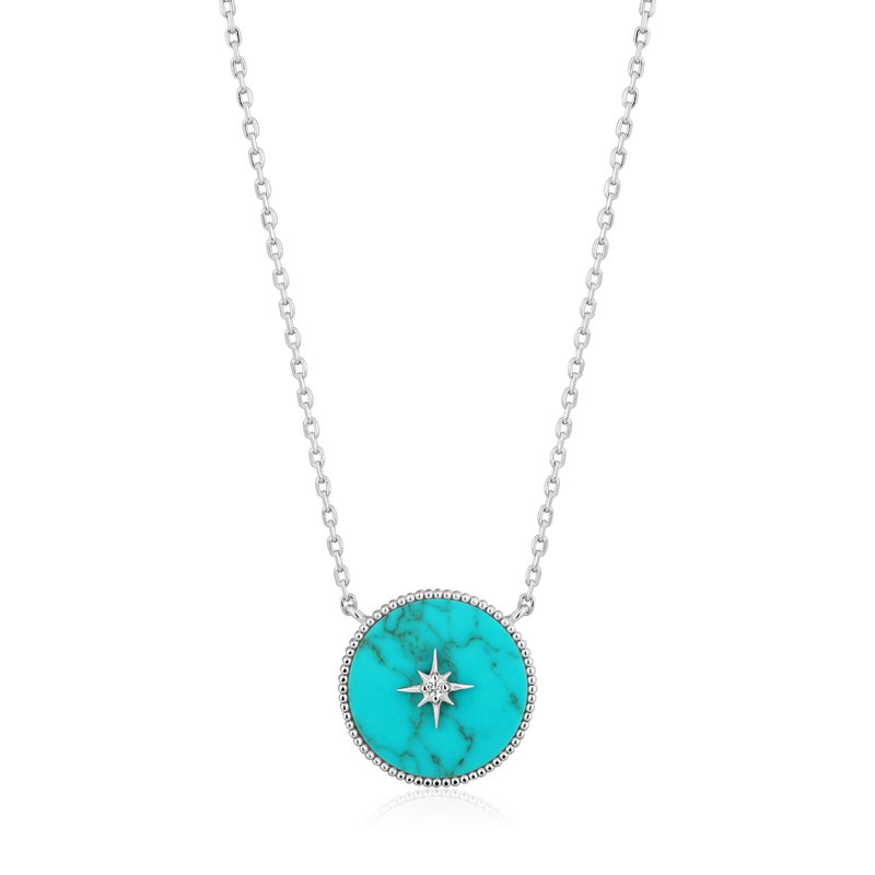 Ania Haie Turquoise Emblem Necklace