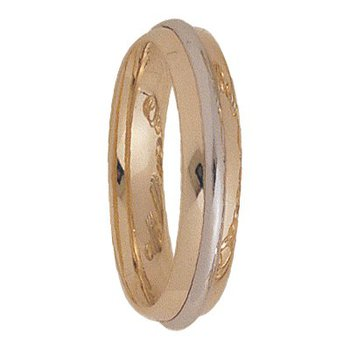 5mm 5170 Mens Two Tone Wedding Band