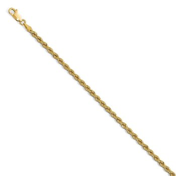 Leslie's 14k 2.75mm Handmade Regular Rope Chain