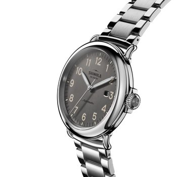 The Runwell Automatic 45mm Stainless Gunmetal Dial Bracelet Watch