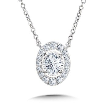 Diamond Star Oval Necklace