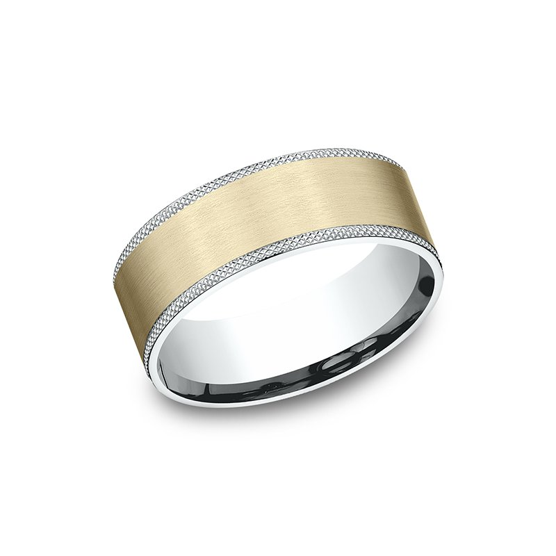 Benchmark Two-Tone Comfort-Fit Design Wedding Band