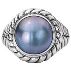 Eleganza Ladies Mabe Pearl Ring