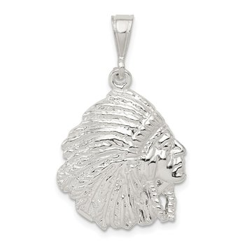 Sterling Silver Polished Man Pendant