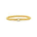 Roberto Coin 18K GOLD & DIAMOND PRIMAVERA TWIST BANGLE