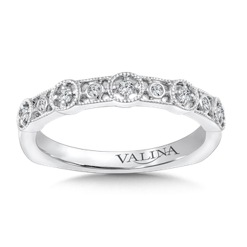 Stackable Wedding Band in 14K White Gold (.11 ct. tw.)