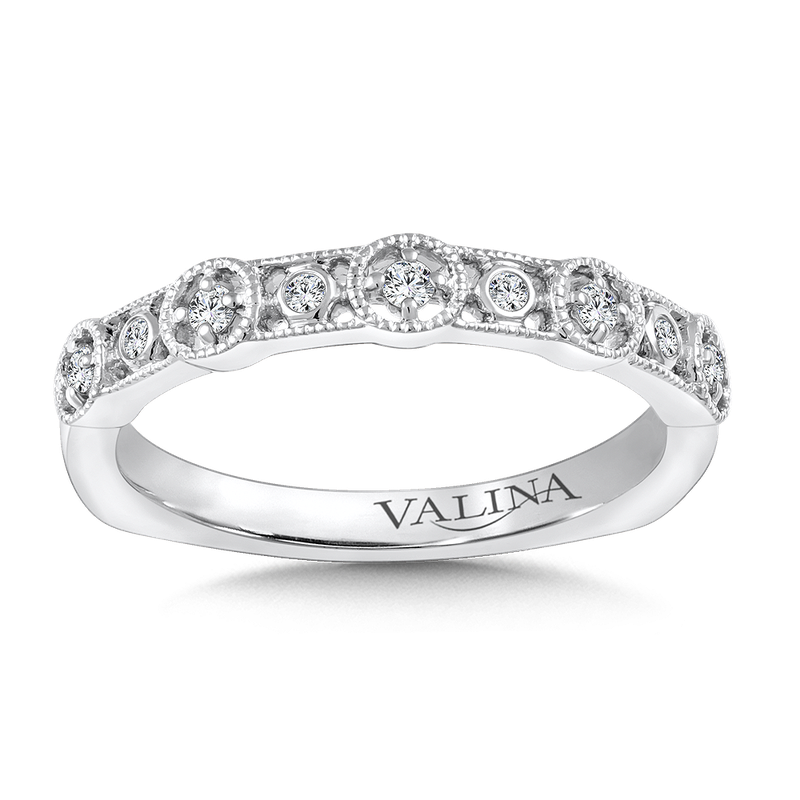 Valina Stackable Wedding Band in 14K White Gold (.11 ct. tw.)