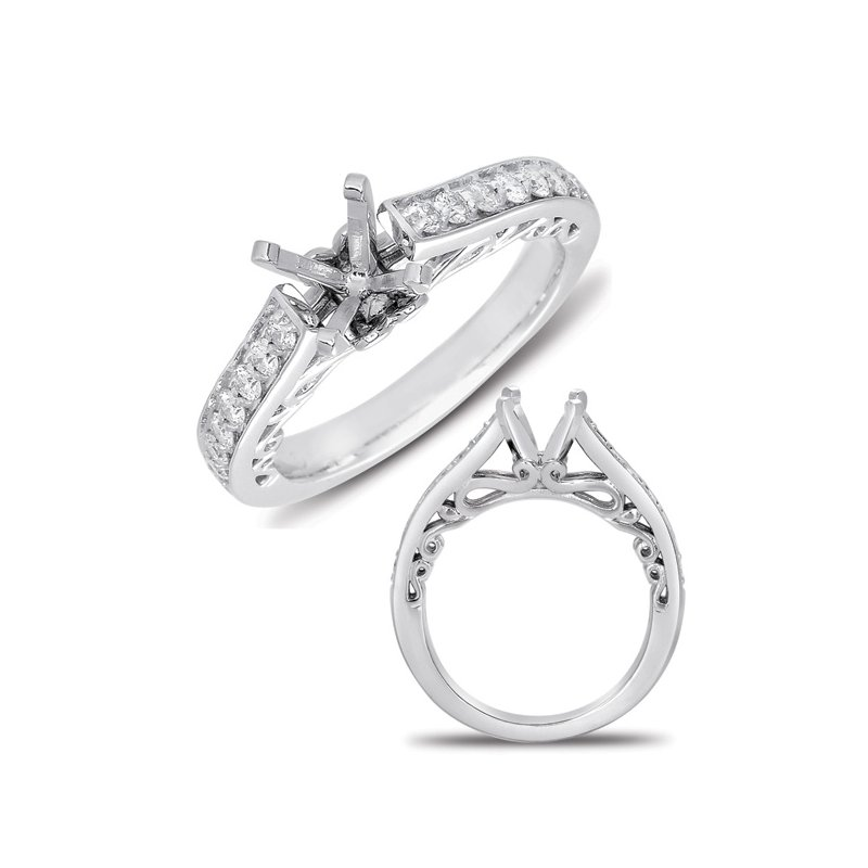 S. Kashi & Sons Bridal White Gold Semi Mounting