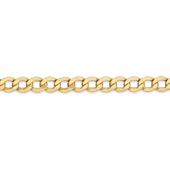 14k 5.25mm Semi-Solid Curb Chain