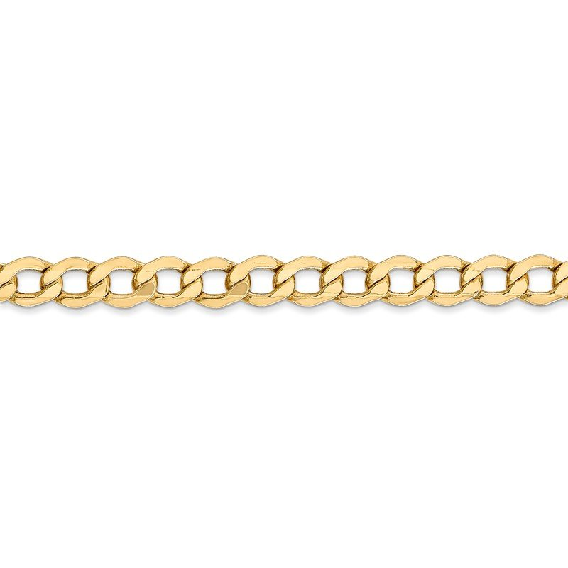 Quality Gold 14k 5.25mm Semi-Solid Curb Chain