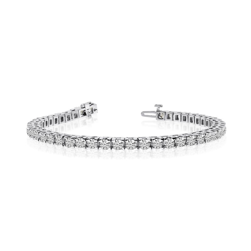 14k White Gold 6 Ct. Classic Diamond Tennis Bracelet