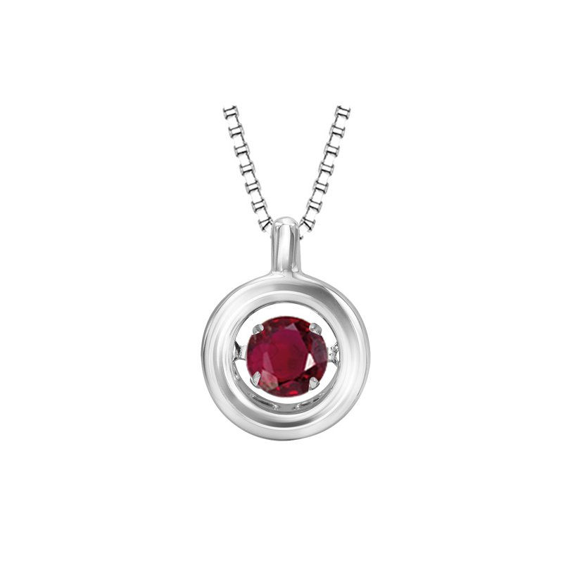 Rhythm of Love Silver Ruby Rhythm Of Love Pendant