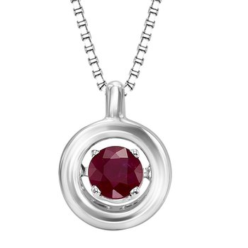 Silver Ruby Rhythm Of Love Pendant