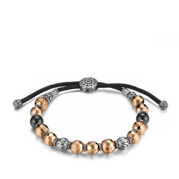 Classic Chain Pull Through Bracelet in Silver and Bronze