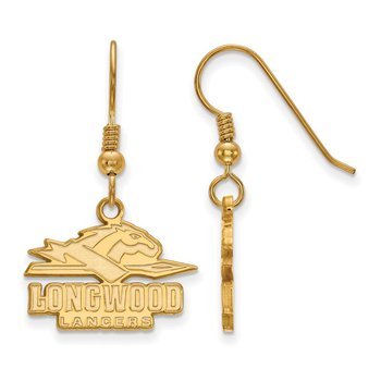Gold-Plated Sterling Silver Longwood University NCAA Earrings