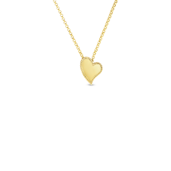 18KT GOLD PRINCESS HEART PENDANT