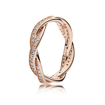 Twist Of Fate Ring, Pandora Rose™ Clear Cz