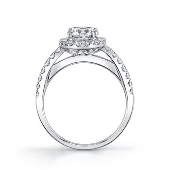 MARS 25569  Diamond Engagement Ring 0.57 Ctw.